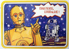 1978 Star Wars C-3PO & R2-D2 Postcard Unused