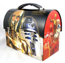 Star Wars C-3PO & R2-D2 Workmans Carry All Tin w/Handle, Unused