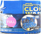 Star Wars Clone Wars Sheet Set (1 Flat, 1 Fitted, 2 Pillowcases) Full.