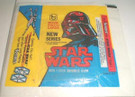 1978 Star Wars Topps Series 2 Empty Wax Wrapper (Darth Vader) w/Kenner ad