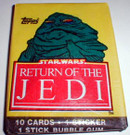 1983 Star Wars ROTJ Topps Series 1 Sealed Wax pack w/Jabba