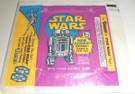 1978 Star Wars Topps Series 3 Wax Wrapper R2-D2 w/Kenner ad, wear