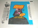 1980 Star Wars Topps ESB Series 2 Empty Wax Wrapper w/collecting box ad