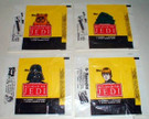1983 Star Wars ROTJ Topps Series 1 Empty Wax Wrapper Set of 4