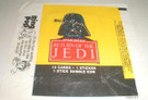 1983 Star Wars ROTJ Topps Series 1 Empty Wax Wrapper w/Darth Vader