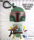 "Star Wars Mini 4"" Talking Plush Boba Fett Clip-On"