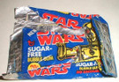 1978 Star Wars Topps Sugar Free Gum Foil Wrapper, torn