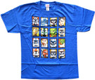 Star Wars Kids Clone Wars Character Squares Blue T-Shirt Size XL