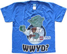 Star Wars Kids Lego Yoda WWYD? Blue/Purple T-Shirt Size 4