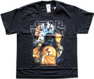 Star Wars Kids Classic Boba Fett, Vader, Troopers Black T-Shirt Size 8