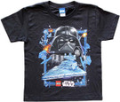 Star Wars Kids Lego Darth Vader & Star Destroyer Black T-Shirt Size S (6/7)
