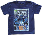 Star Wars Kids Marvel Comic Book #35 Cover Art Blue T-Shirt Size 5/6