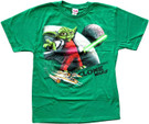 Star Wars Kids Clone Wars Yoda Y-Wing Green T-Shirt Size XL