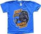 Star Wars Kids Darth Vader Dad's Little Trouble Maker Blue T-Shirt Size M (8)