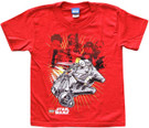 Star Wars Kids Lego Millennium Falcon & Characters Red T-Shirt Size 6/7