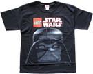Star Wars Men's Lego Darth Vader Head Black T-Shirt Size XS