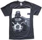 Star Wars Men's Darth Vader Riding Motorcycle Grey T-Shirt Size S