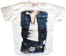 Star Wars Men's Han Solo Body Costume White T-Shirt Size XS