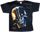 Star Wars Men's Darth Vader Head/Face Black T-Shirt Size XS