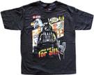 Star Wars Kids Lego Darth Vader Crush the Jedi Black T-Shirt Size 5