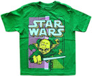 Star Wars Kids Yoda Lightsaber Battle Pose Green T-Shirt Size 3