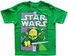 Star Wars Kids Yoda Lightsaber Battle Pose Green T-Shirt Size 5