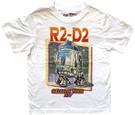 Star Wars Kids R2-D2 Galactic Tour 1977 Vintage Look White T-Shirt Size 3T