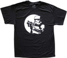 Star Wars Men's Stormtrooper Pointed Blaster Black T-Shirt Size L