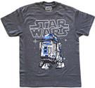 Star Wars Men's R2-D2 (R2D2) Pixel Grey T-Shirt Size M