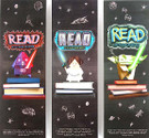 Star Wars Set of 3 Origami Darth Vader, Princess Leia, Yoda Read Promo Bookmarks