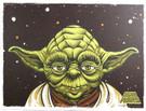 2014 Star Wars SD Comic Con Yoda Promo Print / Poster Santa Cruz