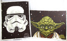2014 Star Wars SD Comic Con Set of 2 Stormtrooper & Yoda Promo Prints / Posters