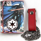 Star Wars Darth Vader Imperial Logo Wallet w/ Wallet Chain, Unused