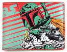 Star Wars Boba Fett Striped Bi Fold Wallet, Unused