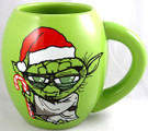 Star Wars Yoda Santa Hat Merry Christmas 18 oz. Ceramic Mug