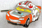 Star Wars Disney Pixar Cars Luke Skywalker Lighting McQueen Metal Pin