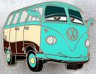Star Wars Disney Pixar Cars Yoda Fillmore VW Bus Metal Pin