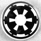 Star Wars Imperial Logo Button 1.25""