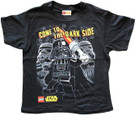 Star Wars Kids Lego Darth Vader/Stormtroopers Dark Side Black T-Shirt Size 5/6
