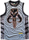 Star Wars Men's Boba Fett Mandalorian Skull Embroidered Jersey Size L