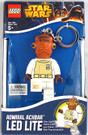 Star Wars Lego Admiral Ackbar Figure Key Chain / LED Key Light 3""