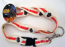 Star Wars Darth Vader Red logo w/red outline Lanyard
