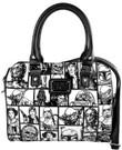Star Wars Checkered Character Pattern Faux Leather Duffel Handbag / Purse