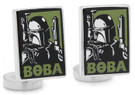 Star Wars Boba Fett Pop Art Poster Cufflinks in Box. Officially Licensed