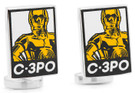 Star Wars C-3PO Pop Art Poster Cufflinks in Box. Officially Licensed