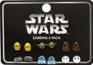 Star Wars Set of 6 Pierced Earrings Yoda, R2-D2, Chewbacca, etc.
