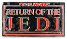 Star Wars Return of the Jedi Logo Metal Belt Buckle, Unused