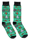 Star Wars Ugly Sweater Pattern Men's Crew Christmas Socks Shoe Size 6-12