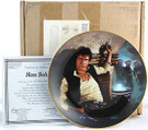 1987 Star Wars Han Solo Plate in box with COA