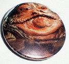 1983 Germany Star Wars ROTJ Jabba mini button